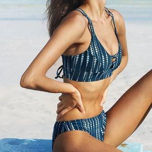Cupshe space lace up bikini set